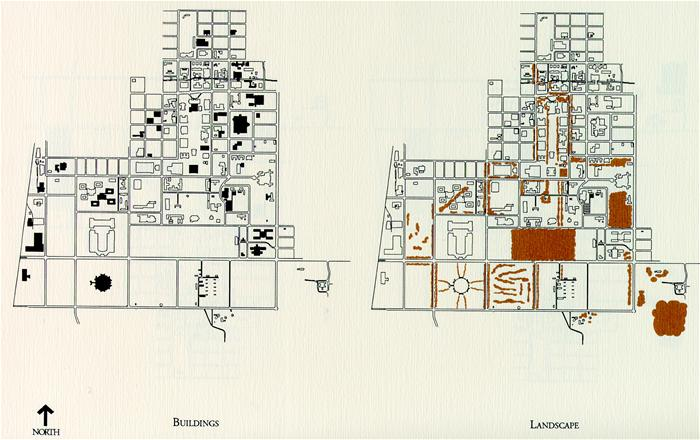 construction of campus buildings and associated landscape features between 1960 and 1980 image