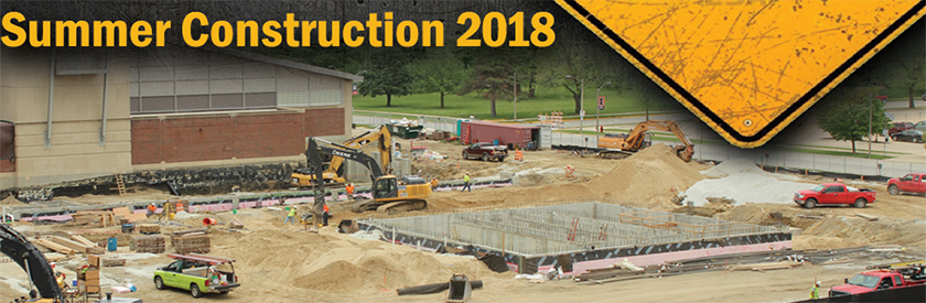 2018 Summer Construction rotating banner