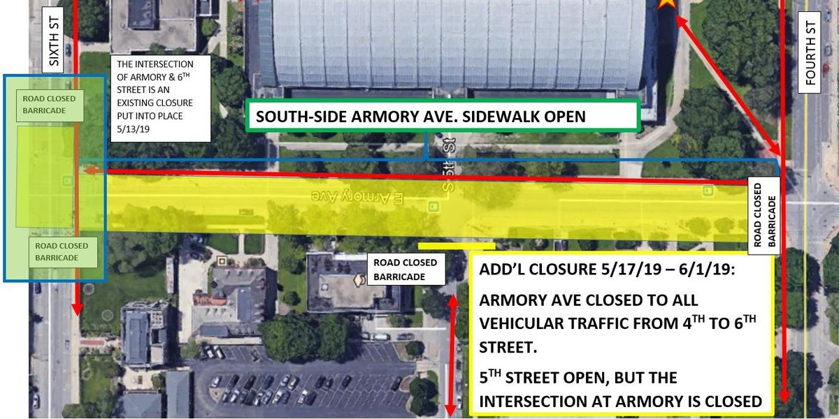 ARMORY AVE CLOSURE 5-17-19 TO 6-1-19