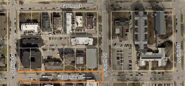 Champaign Street Closure - Daniel St between 3rd St and 4th St