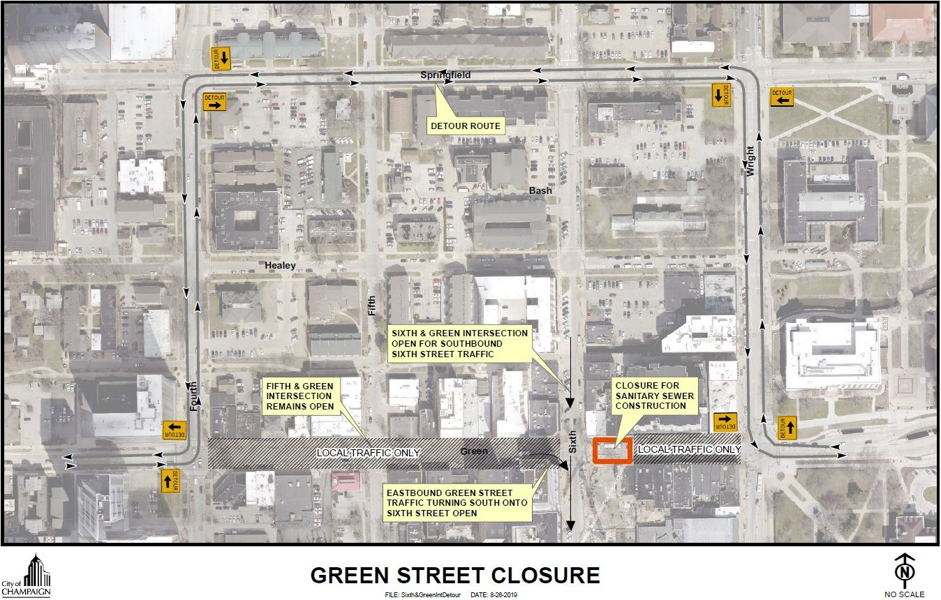 Champaign Street Closure - Green St between 6th and Wright