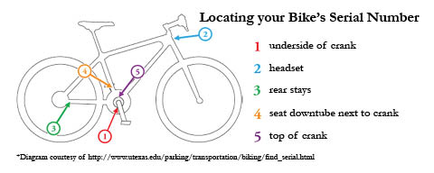 Locating your bikes serial number